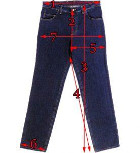 111-s Klasszikus farmer mérettáblázathoz útmutató